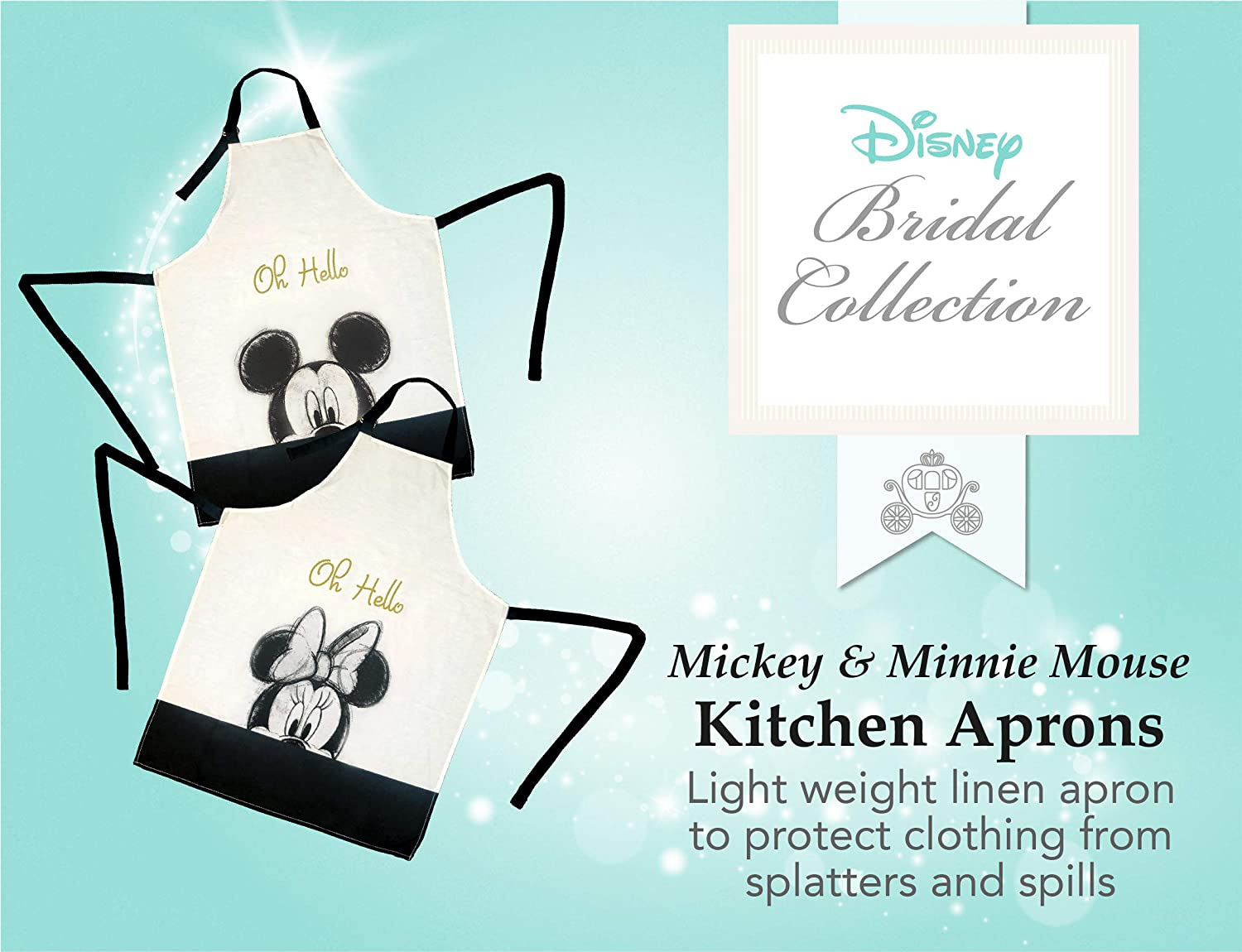 Minnie Mouse Face Keep Cute and Comfortable During All Your Cooking Experiences Clean Best Brands Disney Cotton Apron Gray