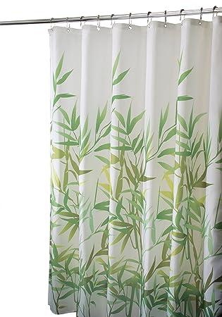 Amazon.com: InterDesign Anzu Shower Curtain, Green: Home & Kitchen