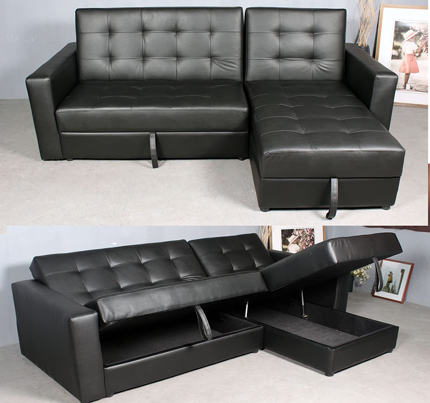 sofa henri dark structube grey left beds sectional en