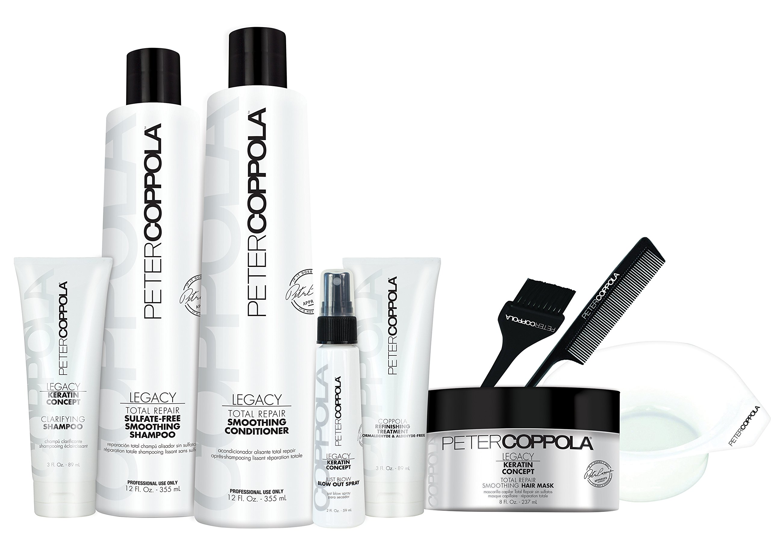 PETER COPPOLA Coppola Keratin Smoothing Treatment Formaldehyde & Aldehyde-Free (Treatment Kit with Aftercare) by Peter Coppola (Image #1)