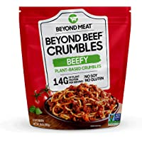 Beyond Beef Crumbles from Beyond Meat, Plant-Based Meat, Frozen, 10oz. Bag, Beefy Flavor