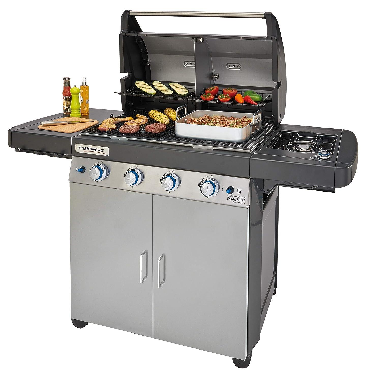 Campingaz 2000033727 4 Series Dual Heat LS Plus - Barbacoa Gas con 2 zonas de asar, 4 quemadores de acero inoxidable, un quemador lateral, sistema de ...