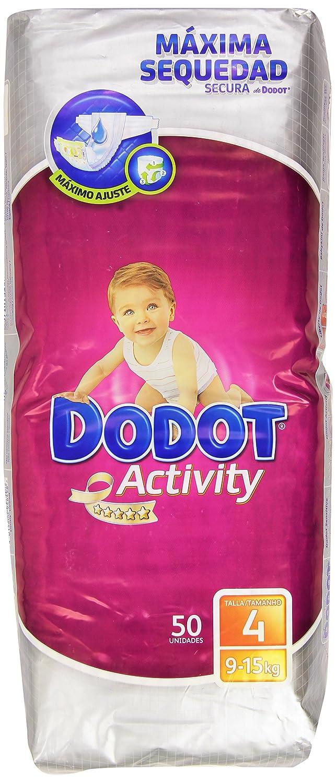 Dodot - Activity Pañales para bebés - Talla 4, 9-15 kg - 50 unidades: Amazon.es: Salud y cuidado personal