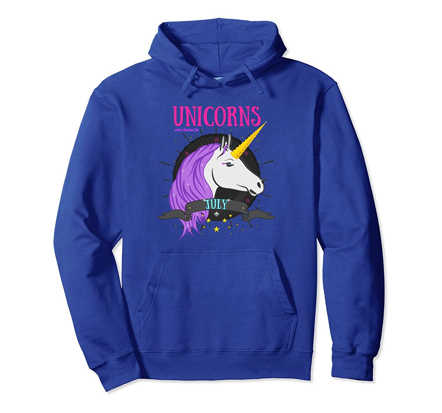 July Birthday Hoodie Outfit Unicorns Are Born In July-Colonhue