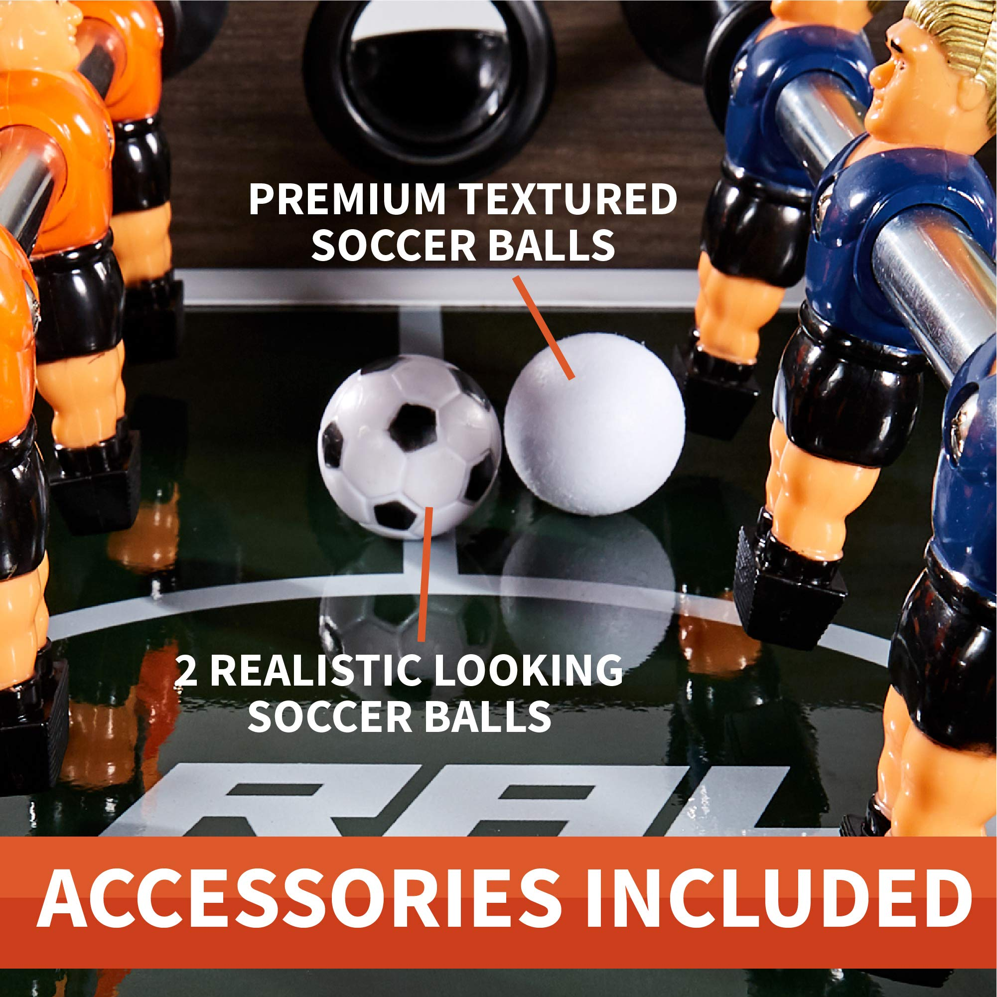 """Rally and Roar Foosball Table Game – 56"""" Standard Size Fun, Multi Person Table Soccer Adults, Kids - Recreational Foosball Games Game Rooms, Arcades, Bars, Parties, Family Night by Rally and Roar (Image #6)"""
