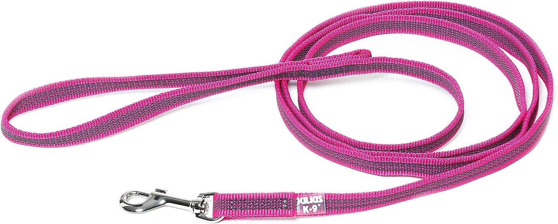 Julius-K9 218GM-PN-S2 Color & Gray Correa de Perro del Estupendo-Apretón con Asa, 14 mm x 2 m, Rosa y Gris