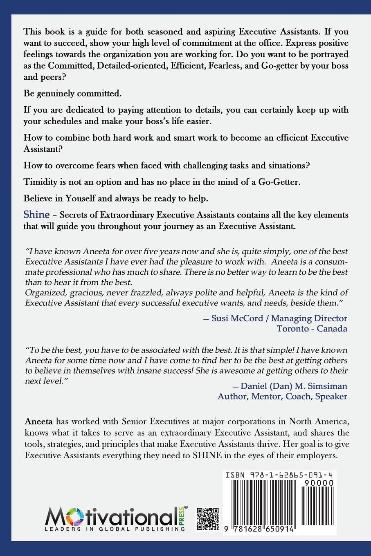 Shine: Secrets Of Extraordinary Executive Assistants: Aneeta Pathak:  9781628650914: Amazon: Books