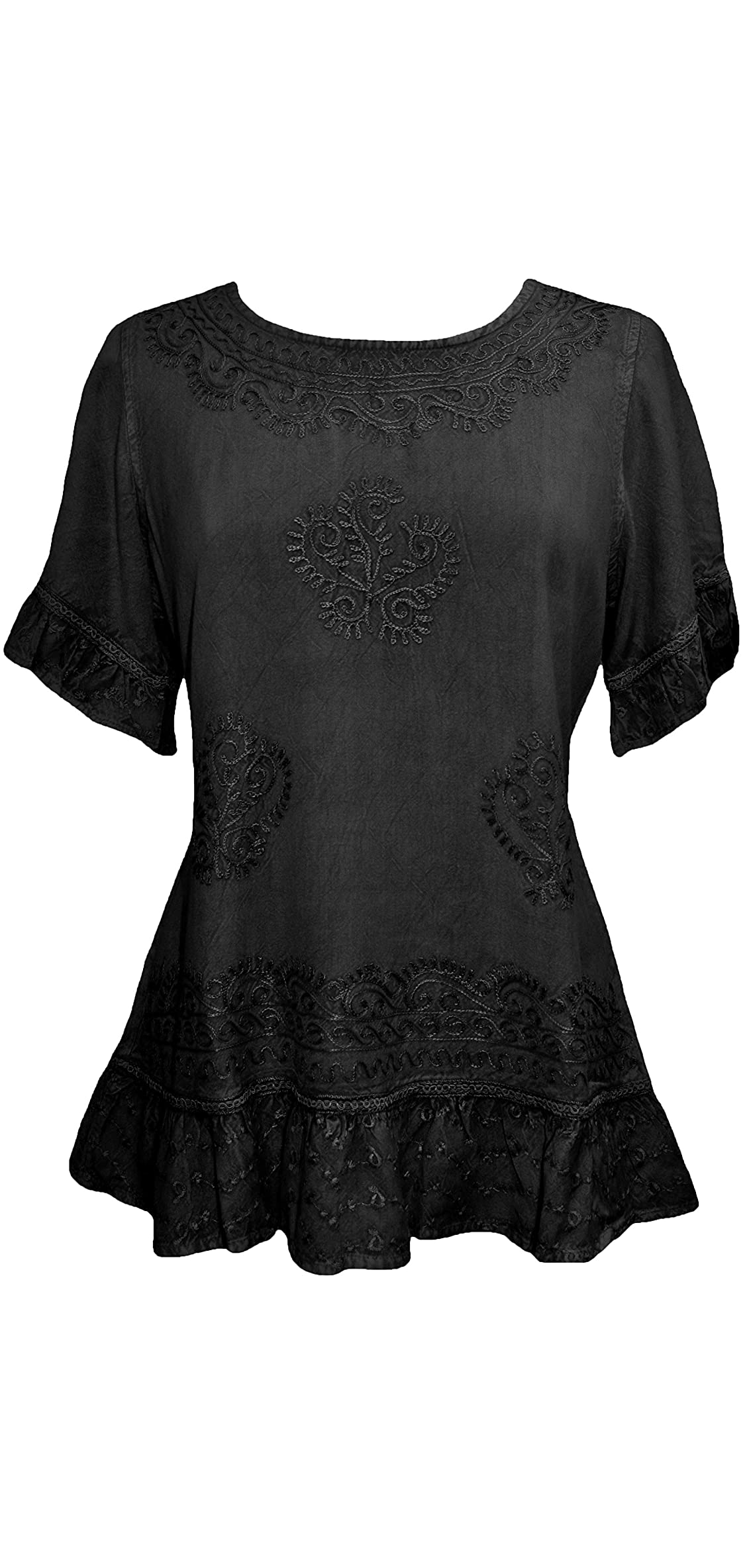 Women's Medieval Bohemian Embroidered Short Sleeve