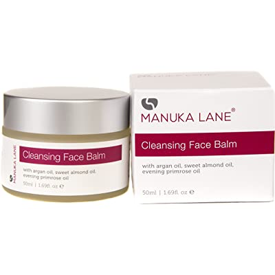 All Natural Makeup Remover Cleansing Balm with Argan, Sweet Almond, Jojoba, and Evening Primerose Oil   Moisturize and Sooth Tired Skin while Cleansing Away Makeup, Dirt, and other Build-up