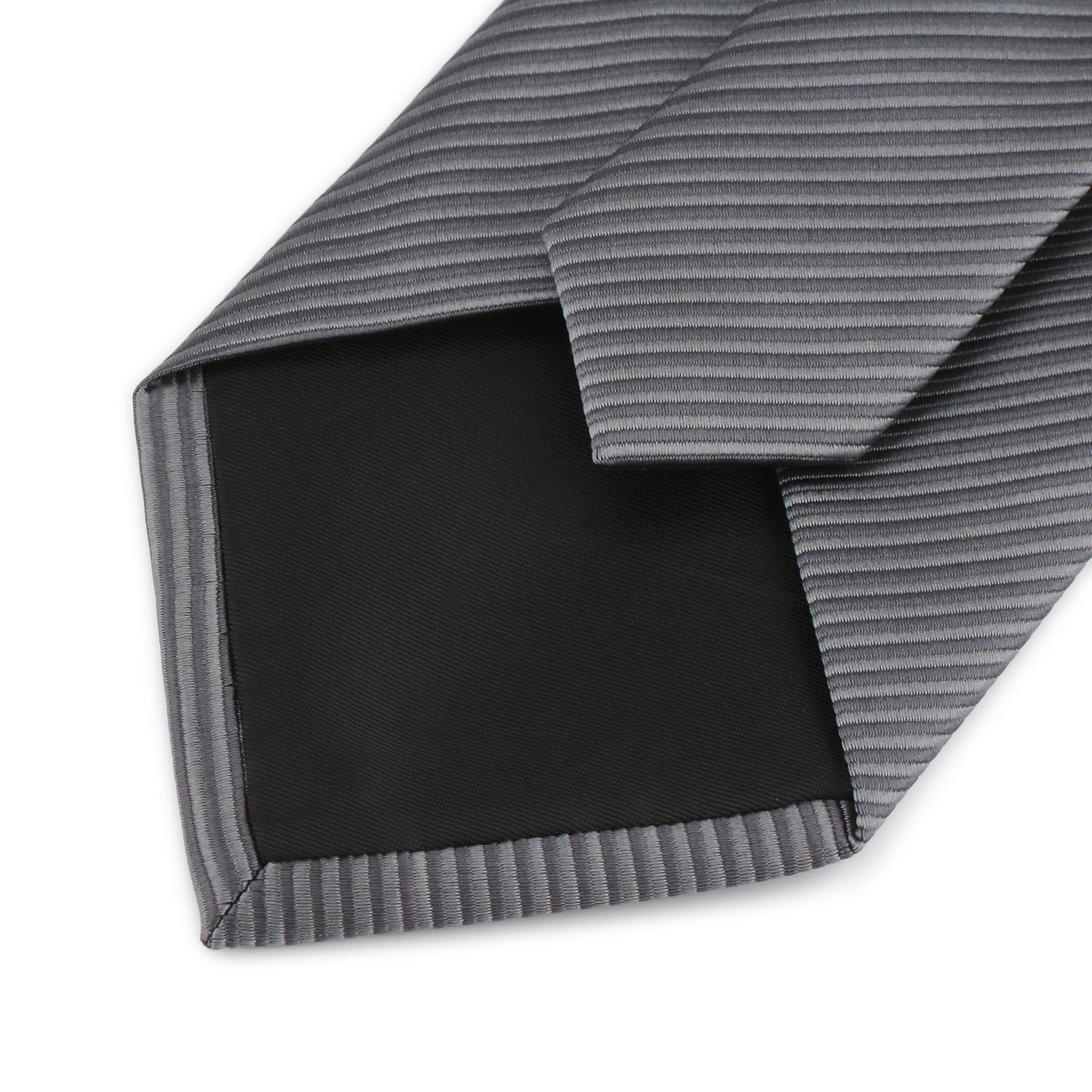 Mens Necktie Classic Striped Neckties, 54'' Long Polyester Solid Grey Neck Tie, Seasonless Formal Casual Business Necktie by Segbeauty (Image #9)