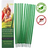 Mosquito Repellent Incense Sticks with 100% Natural Citronella & Lemongrass by Yolika -DEET Free Bug Repeller for Outdoor Garden Yard -Burn 2 To 3 Hours Each(12 Pack)