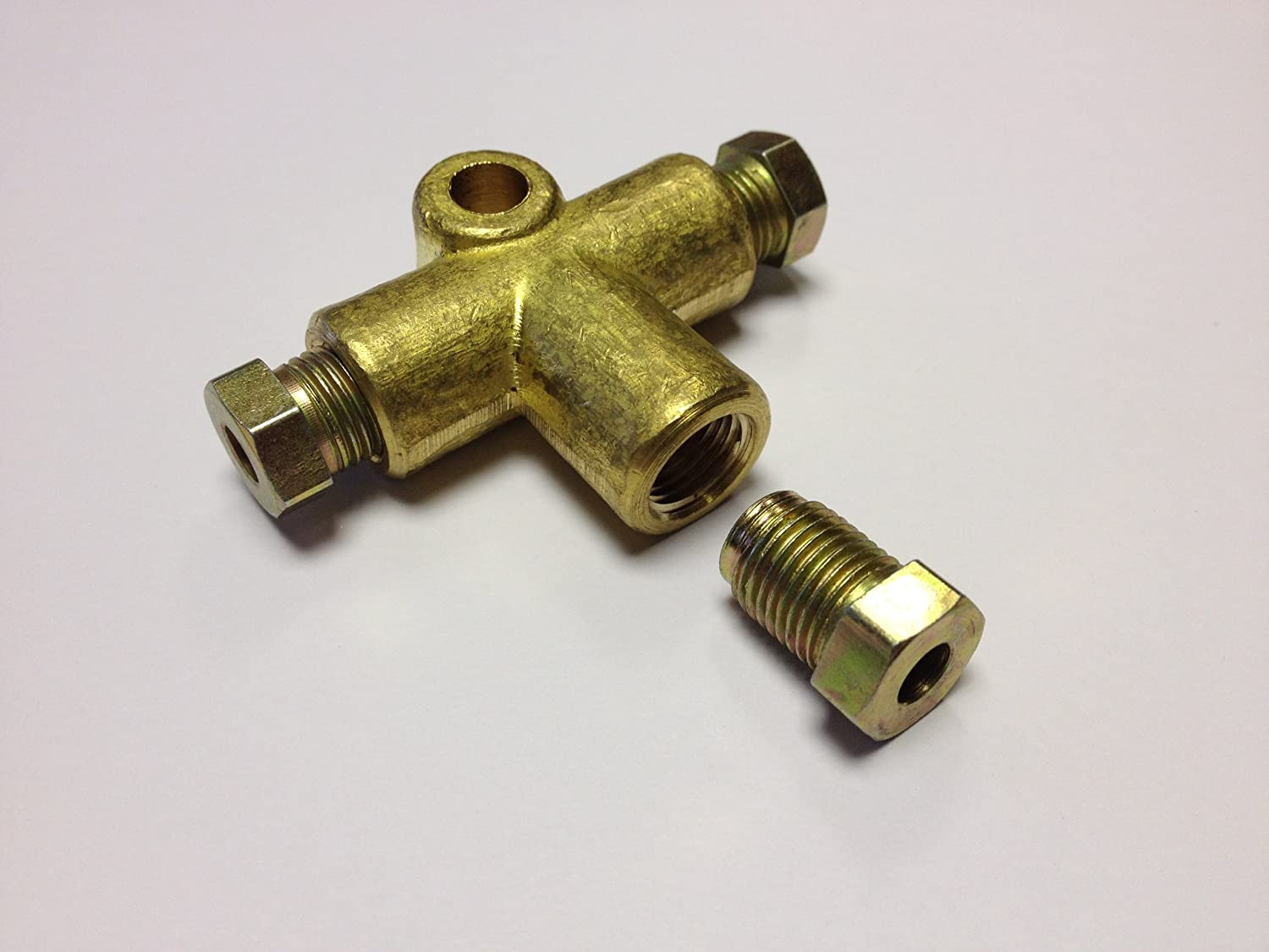"""3 Way Brake Pipe Connector 3//8 UNF 3//16 Brake Pipe 3way For 3//16/"""""""