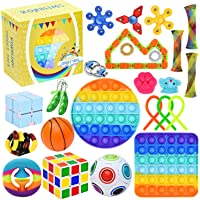 25 Pack Sensory Toys Set, Relieves Stress and Anxiety Fidget Toy for Children Adults, Special Toys Assortment for…