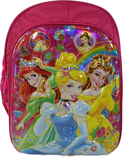 742e92ec6e 3D Barbie Disney Cinderella Frozen Anna And Elsa Sofia Waterproof Pink School  Bag Backpack for Girls