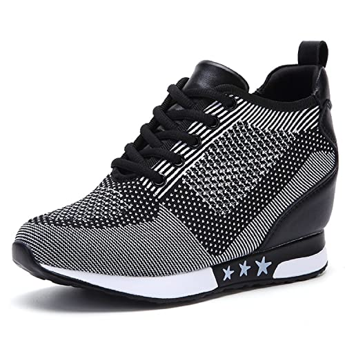 e0c4b7a9ac4 TQGOLD Women Hidden Wedges High Heels Sneaker Elevator Shoes High Top Height  Increase(Size 36,Gray): Amazon.ca: Shoes & Handbags