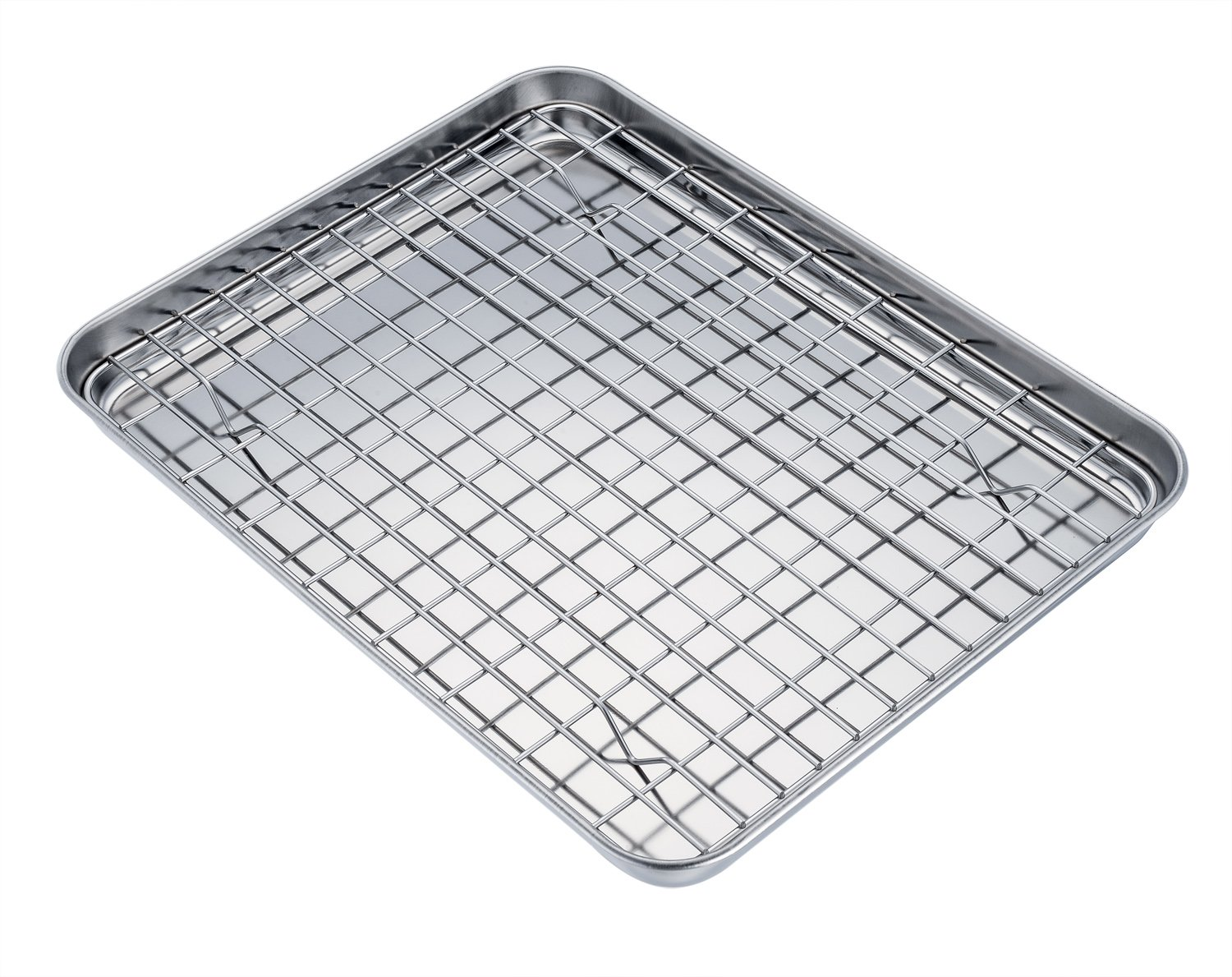 Wire Baking Cooling Rack Stainless Steel Cooking Broiling Roasting ...