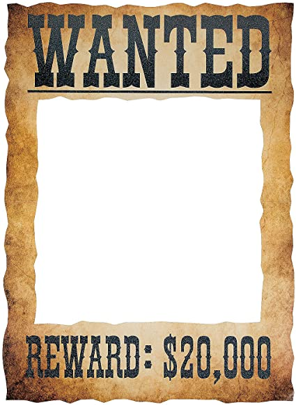 Amazon Com Wanted Poster Photo Booth Prop Cowboy Western Party Decor Toys Games