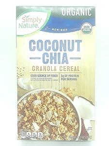 Simply Nature Coconut Chia Granola Cereal, Organic, 12.3 oz