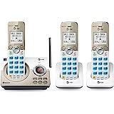 AT&T - Teléfono inalámbrico expansible con conexión Bluetooth a la celda, 3 Handset