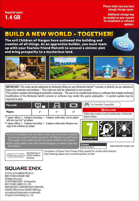 Dragon Quest Builders 2 : Season Pass | Switch - Download