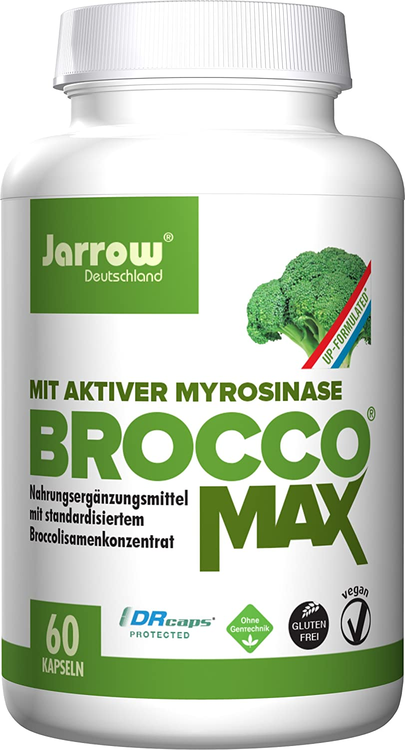 Jarrow Formulas BroccoMax, Supports Liver Health, 60 Delayed Veggie Caps
