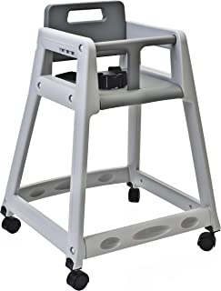 """product image for Koala Kare KB850-01W Diner Plastic High Chair with Caster Wheels, Grey, 23"""" Height, 23"""" Width, 30"""" Length"""