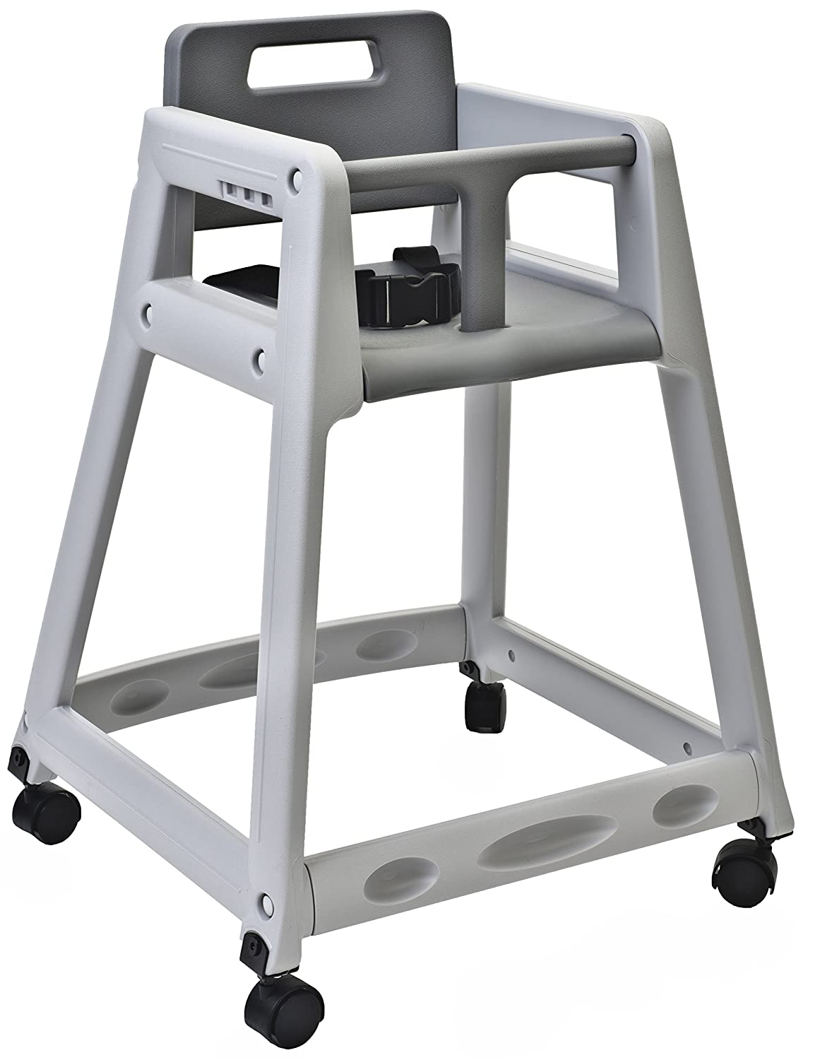 Koala Kare KB850 01W Diner Plastic High Chair with Caster Wheels Grey 23 Height 23 Width 30 Length