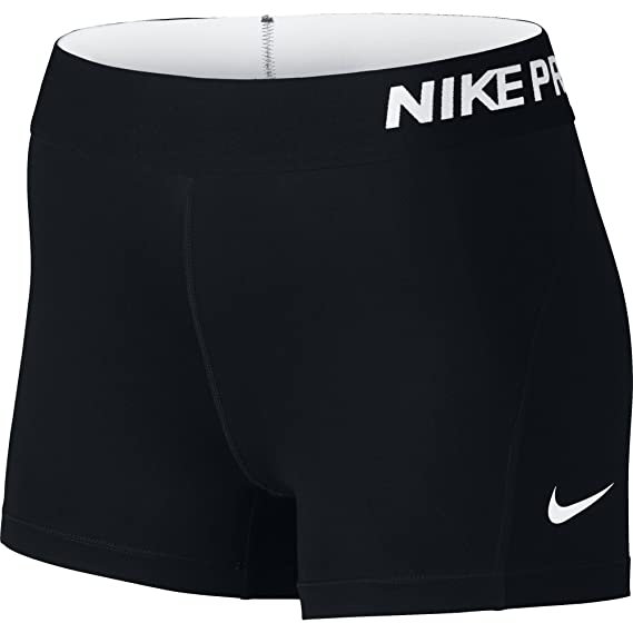 "NIKE Women's Pro 3"" Training Shorts, Black/White, X-Small"