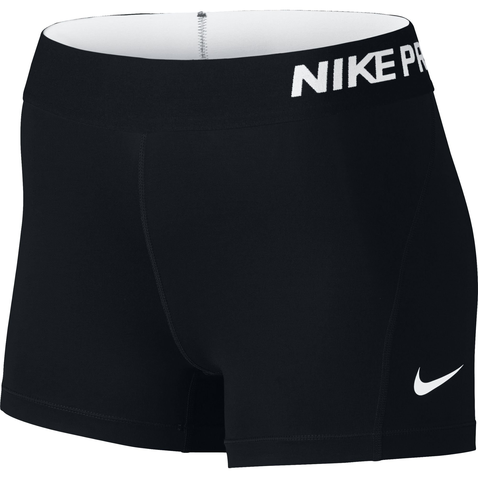 NIKE Women's Pro 3'' Training Shorts, Black/White, X-Small