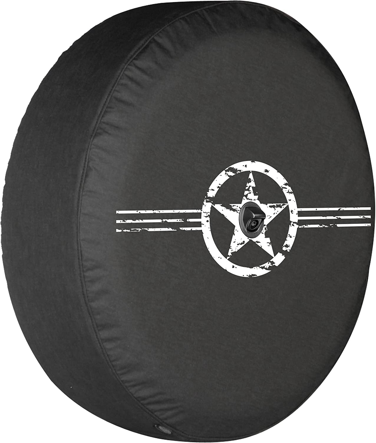 Boomerang with Back-up Camera 32 Soft JL Tire Cover for use with 2018-2019 Jeep Wrangler JL Sport /& Sahara - Air Force Star