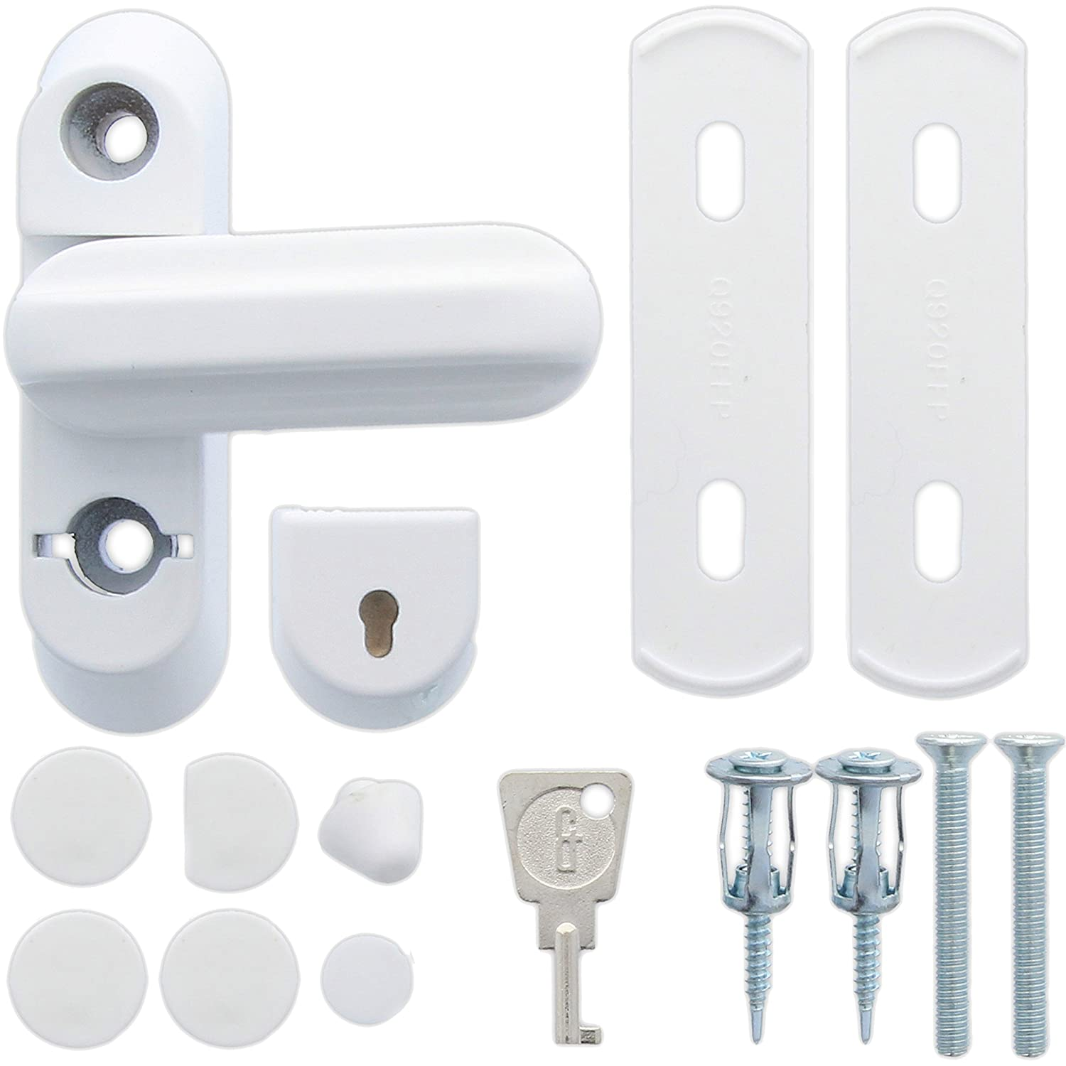 White ERA UPVC Sash Jammer Snap Lock Window/Door Frame Locking Security Restrictor WhiteHinge