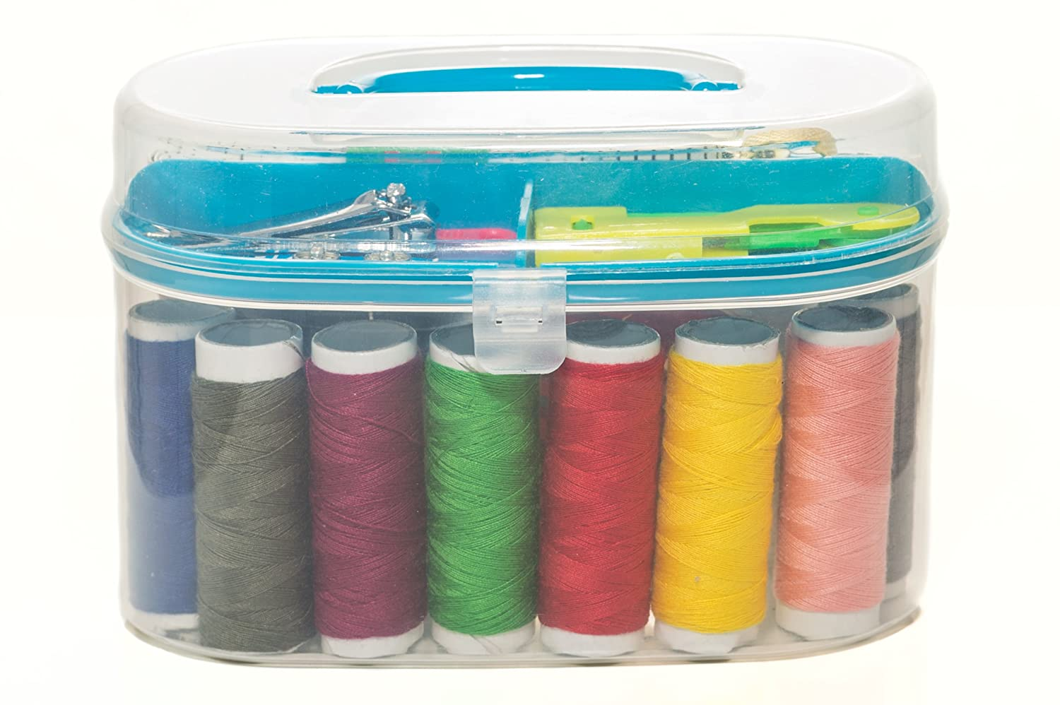 Portable Travel Sewing Kit - Suitable for Beginners & Girls, Comes in 5 Different Premium Colored Boxes, Over 25 Sewing Supplies Inside Makes It The Best Mini Sewing Kit GT Supplies