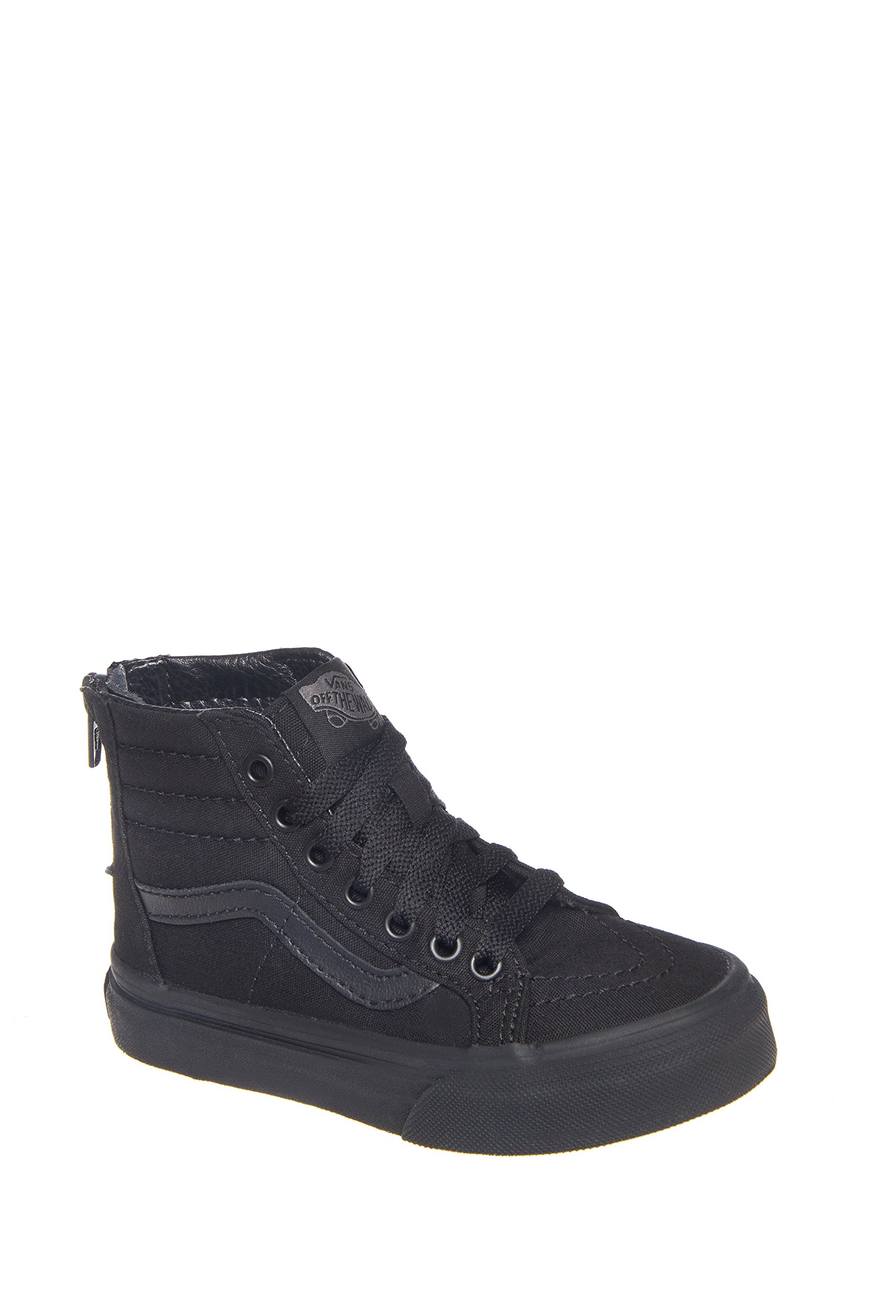 Vans Kids SK8 HI-Zip (POP Check) Shoes Black Black Size 2.5