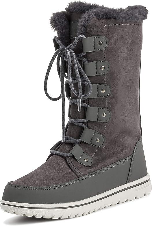 696f266e6726cc Polar Womens Tall Snow Warm Calf Waterproof Durable Outdoor Winter Rain  Boots - 5 - GRE36