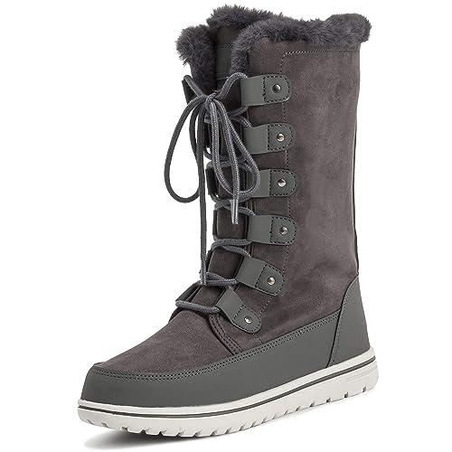 f2ca263fd9262 Mujer Térmico Calentar Invierno Nieve Lluvia Impermeable Botas hasta Las  Rodillas  Amazon.es  Zapatos y complementos