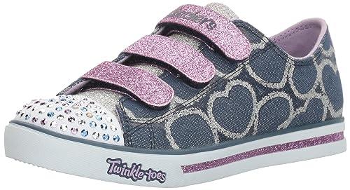 Skechers Sparkle Glitz heartsy Glam, Sneakers Basses Fille