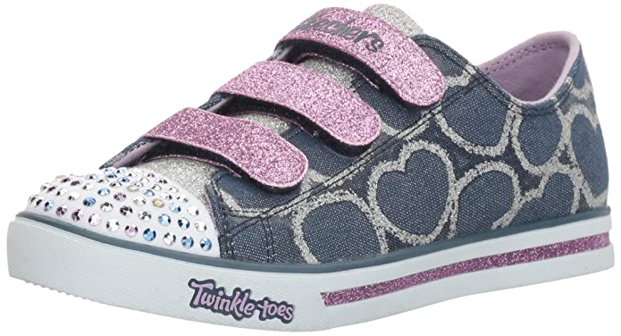 Girl's Skechers, Twinkle Toes Shuffles Glitter Heart Shoes: Amazon.ca: Shoes  & Handbags