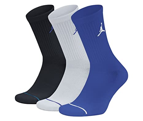 Nike sx5545 – 023 – Calcetines para Hombre, Color Blanco/Negro/Hyper Royal