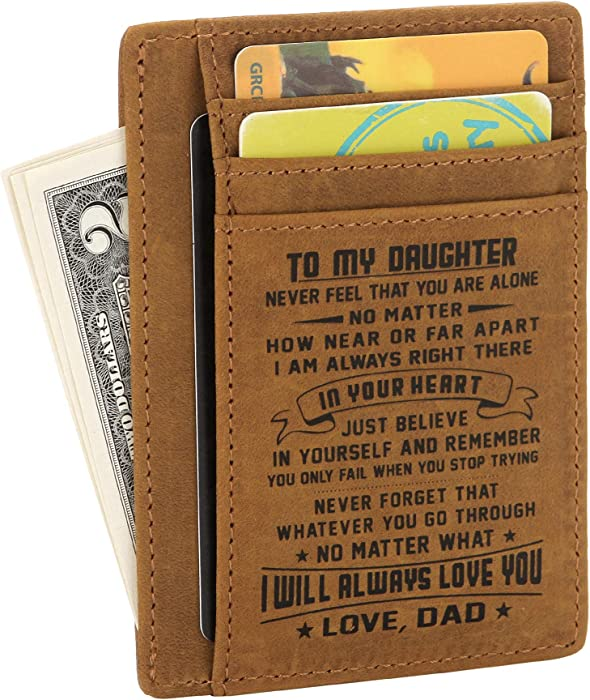 27eb3bb6d20ed FAYERXL Minimalist Wallets Gift for son daughter from Mom Dad Slim ...