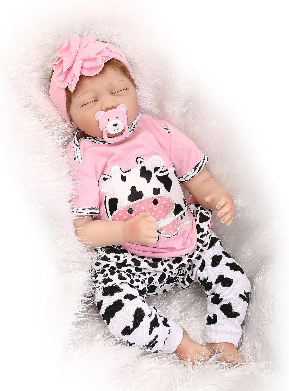 "16/"" Newborn Baby Toddler Handmade Soft Silicone Realistic Xmas Gifts Short Hair"