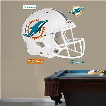 NFL Miami Dolphins revolución casco Real Gran Pared Adhesivos  Amazon.es   Deportes y aire libre 803c2fdac9b