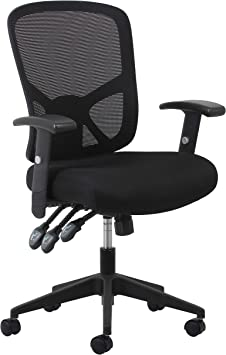 Ofm Ess Collection 3 Paddle Ergonomic Mesh High Back Task Chair With Arms And Lumbar Support In Black Ess 3050 Furniture Decor