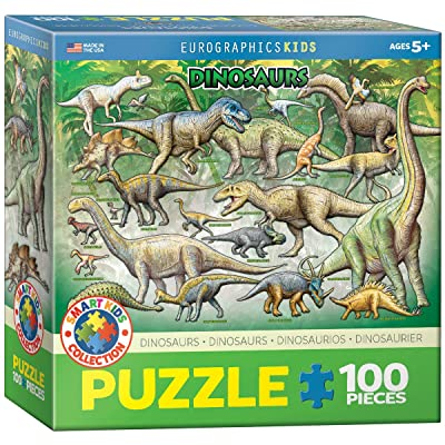 Dinosaurs 100 Piece Jigsaw Puzzle: Toys & Games