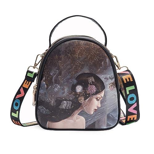 Amazon.com  Fashion Mini Backpack Purse - Cute Crossbody Bag - Hand  Shoulder Backpack Straps (black1)  Shoes 0ef711ccbc1c3