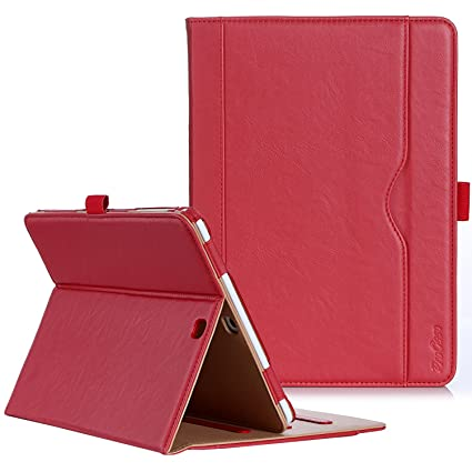 best sneakers 689bd 87fc6 ProCase Samsung Galaxy Tab S2 9.7 Case - Leather Stand Folio Case Cover for  Galaxy Tab S2 Tablet (9.7 inch, SM-T810 T815 T813) -Red
