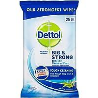 Dettol Big & Strong Antibacterial Eucalyptus Bathroom Cleaning Wipes 25 Pack, 0.560 Kilograms