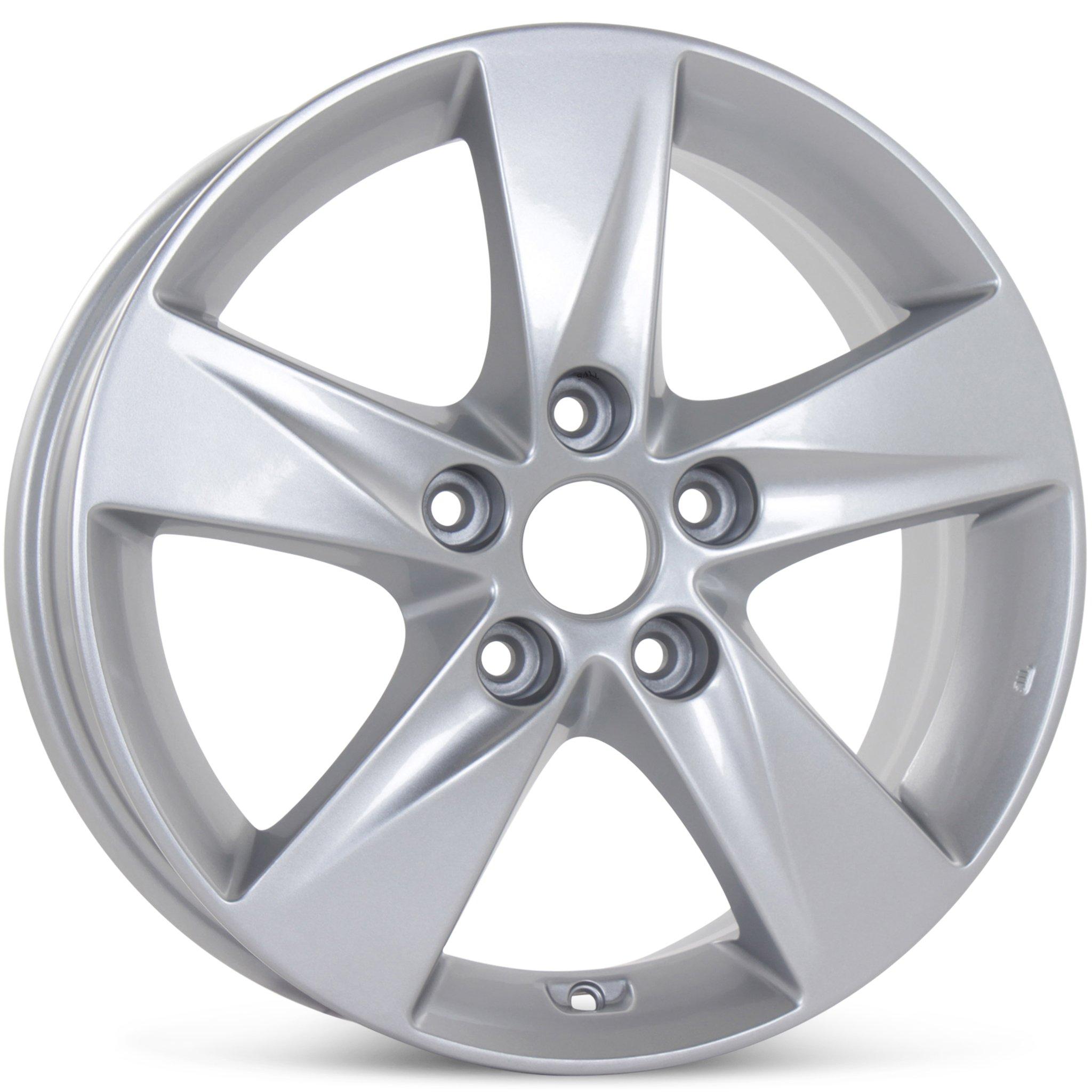 "New 16"" x 6.5"" Alloy Replacement Wheel for Hyundai Elantra 2011 2012 2013 Rim Silver 70806"