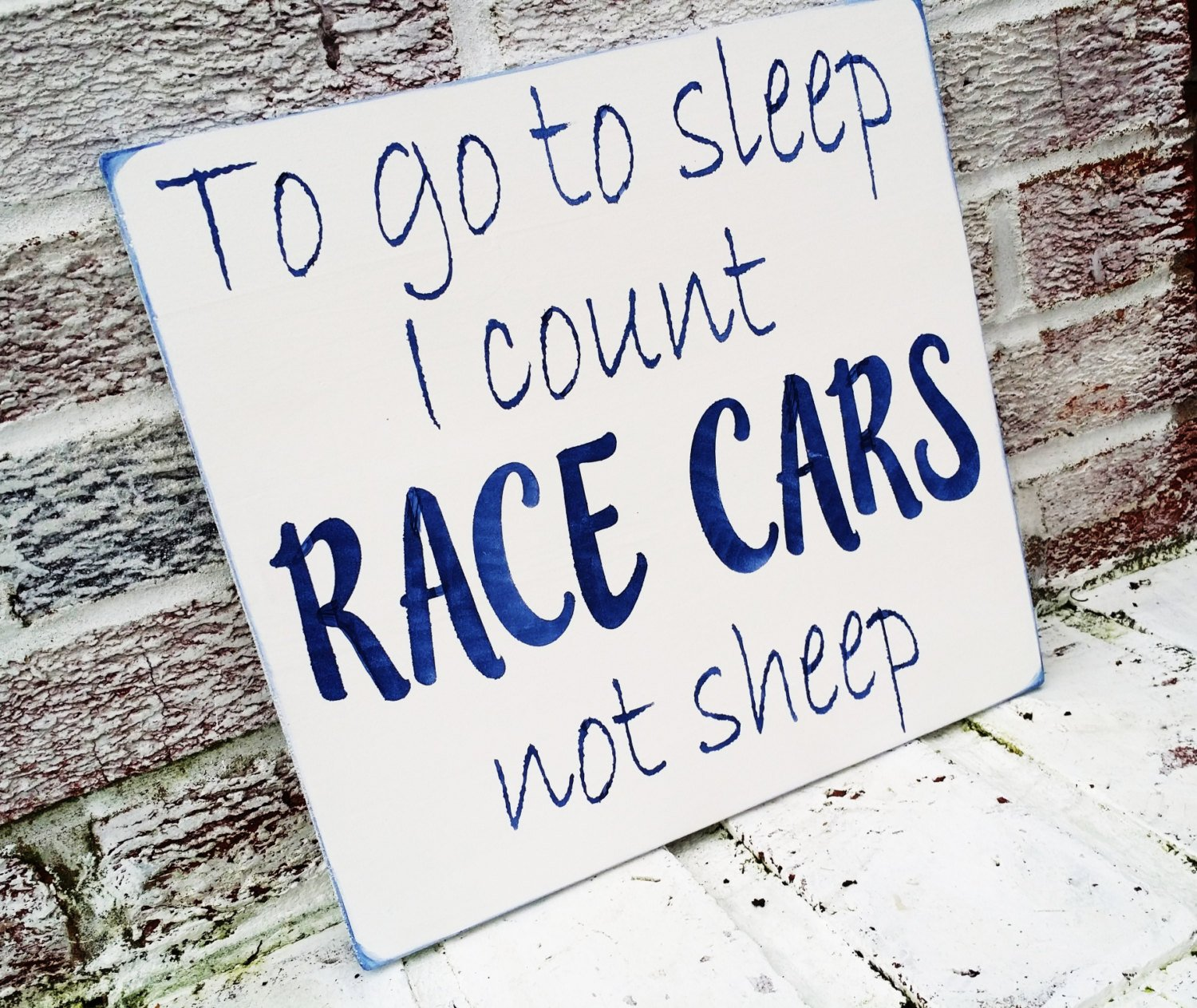 Amazon Nascar Race Car Nursery Theme Baby Boy Cars To Go Sleep I Count Not Sheep Shower Gift