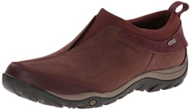 Merrell Women's Dewbrook Moc Waterproof Winter Slip-On Shoe,Bourbon,7 ...