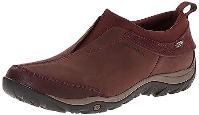Merrell Women's Dewbrook Moc Waterproof Winter Slip-On Shoe,Bourbon,7 ...